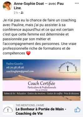 Le bonheur à portée de main - Coaching Pauline Gizardin